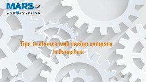 Tips to choose web design company